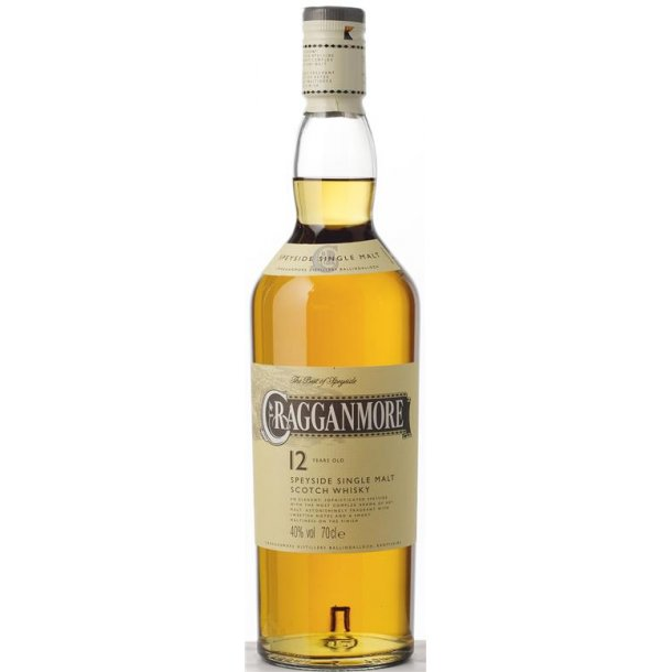 Cragganmore Single Malt 12 Års Whisky 40% 70CL
