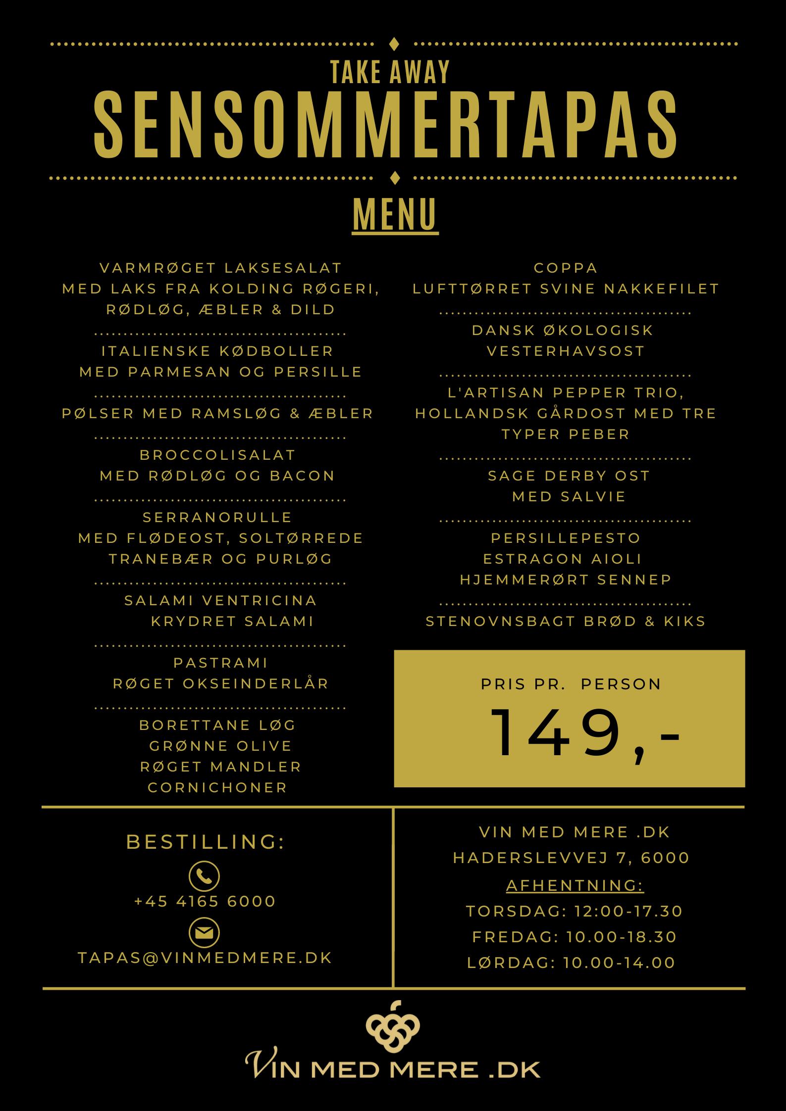 forårstapas menu