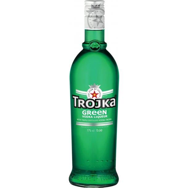 Trojka Green Vodka 70 cl. - 17% - VODKA MED SMAG