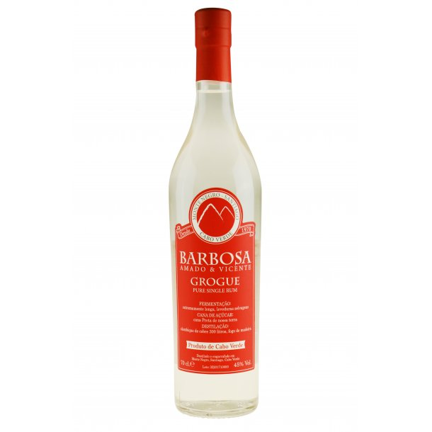Barbosa Amado & Vicente Grogue Pure Single White Rom 70 cl. - 45%