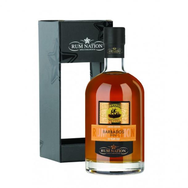 Rum Nation Barbados 10 Års i gaveæske 70 cl. - 40%