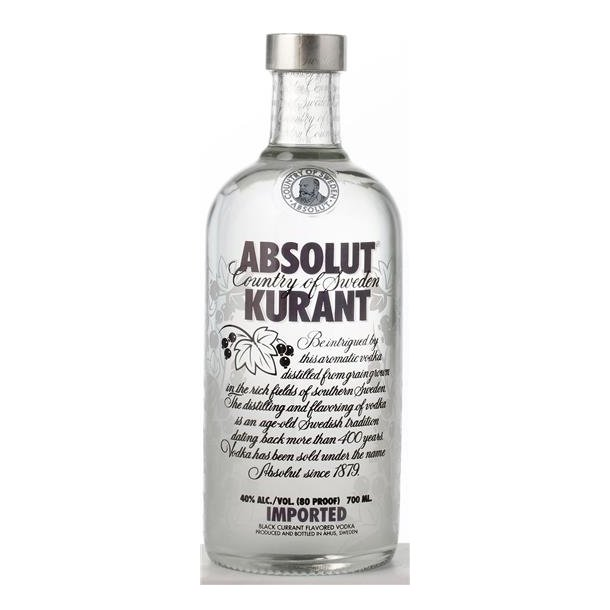 Absolut Kurant vodka 40% 70CL.