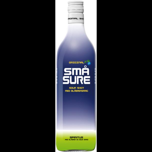 Små Sure Blåbær Shot 16,4% - 1,0 Liter